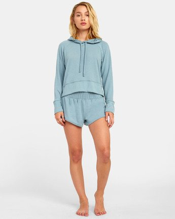 3 Night Off  - Hoodie for Women Grey S3FLRERVP0 RVCA