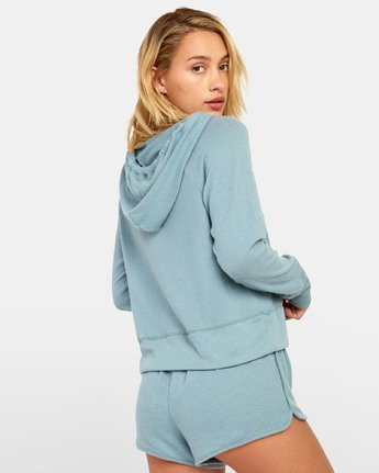 4 Night Off  - Hoodie for Women Grey S3FLRERVP0 RVCA