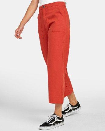 2 Grade - Pantalon taille haute pour Femme Orange S3PTRDRVP0 RVCA
