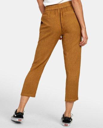 4 Manila - Pantalon cropped pour Femme Marron S3PTRGRVP0 RVCA