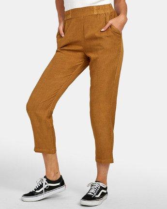 2 Manila - Pantalon cropped pour Femme Marron S3PTRGRVP0 RVCA