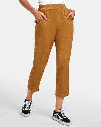 3 Manila - Pantalon cropped pour Femme Marron S3PTRGRVP0 RVCA