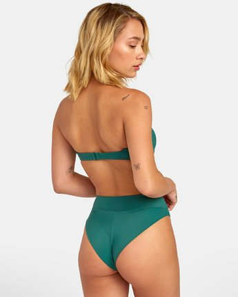0 Solid - High Rise Bikini Bottoms for Women Green S3SBRMRVP0 RVCA