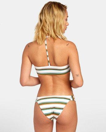 0 Isle Medium - Bas de bikini à rayures pour Femme Blanc S3SBRVRVP0 RVCA