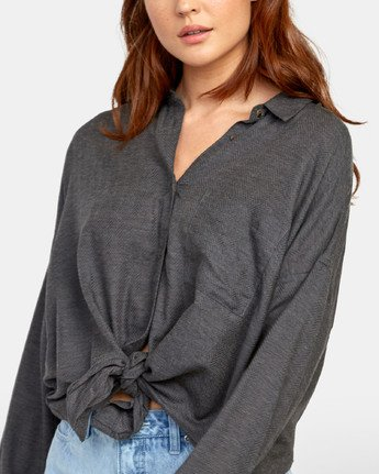5 Habit - Plaid Shirt for Plaid Shirt Black S3SHRARVP0 RVCA