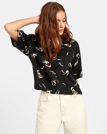 1 Foreign - Printed Shirt for Women Black S3SHRERVP0 RVCA