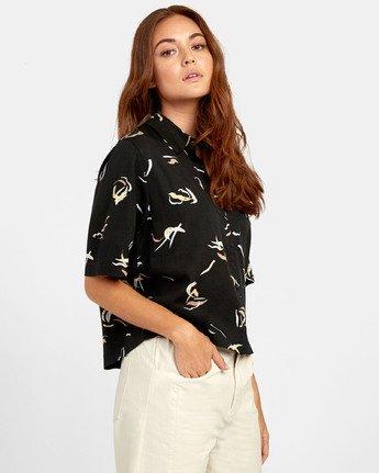 2 Foreign - Printed Shirt for Women Black S3SHRERVP0 RVCA