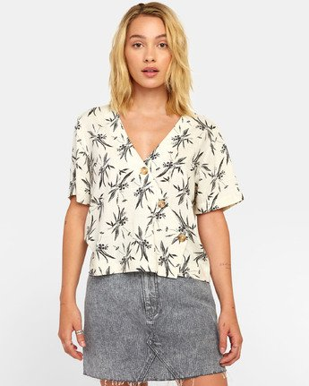 Farrell - Palm Print Shirt for Women  S3SHRFRVP0