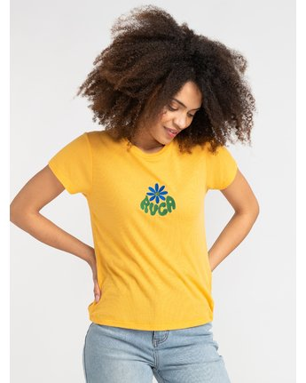0 Happy Days - T-Shirt for Women Yellow S3SSRHRVP0 RVCA