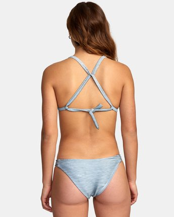 3 Salt Wash Racer - Rib Knit Triangle Bikini Top for Women  S3STRARVP0 RVCA