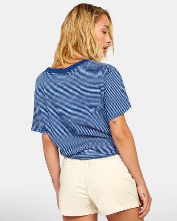3 Radley - Striped T-Shirt for Women Blue S3TPRCRVP0 RVCA