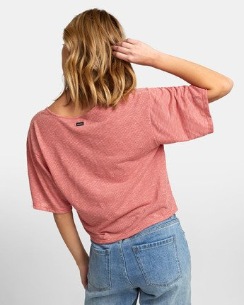 4 Chalked Top - V Neck Tee for Women Red S3TPRDRVP0 RVCA