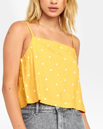 5 Logan - Printed Cami for Women Yellow S3TPRGRVP0 RVCA