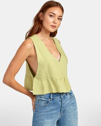0 Eastern - Peplum Top for Women  S3TPRORVP0 RVCA