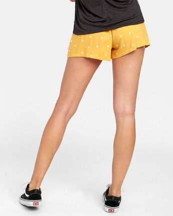 3 Suggest - Dot Print Shorts for Women Yellow S3WKRKRVP0 RVCA