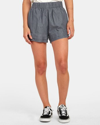 Kyan - Chambray Shorts for Women  S3WKRLRVP0