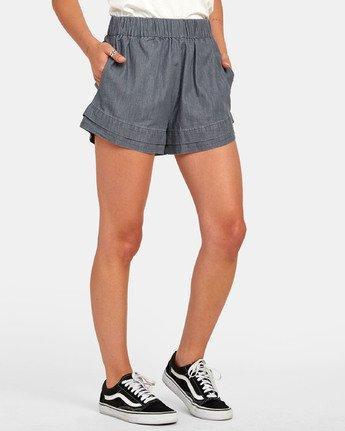 2 Kyan - Short en chambray pour Femme  S3WKRLRVP0 RVCA