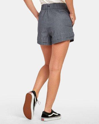 3 Kyan - Short en chambray pour Femme  S3WKRLRVP0 RVCA