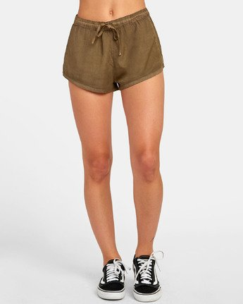 Camron - Woven Elastic Waist Short for Women  S3WKRNRVP0