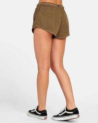 4 Camron - Short en toile à taille élastique pour Femme  S3WKRNRVP0 RVCA