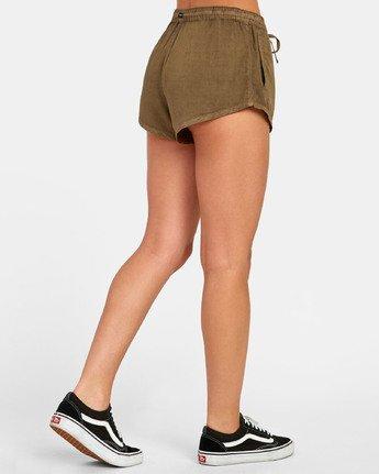 5 Camron - Short en toile à taille élastique pour Femme  S3WKRNRVP0 RVCA