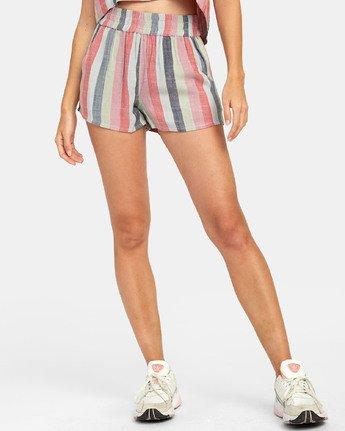 1 Suggest Stripe - Short à rayures pour Femme  S3WKRORVP0 RVCA