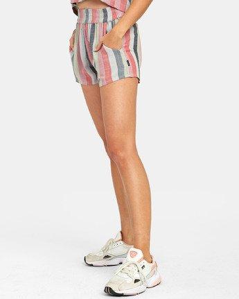 2 Suggest Stripe - Short à rayures pour Femme  S3WKRORVP0 RVCA