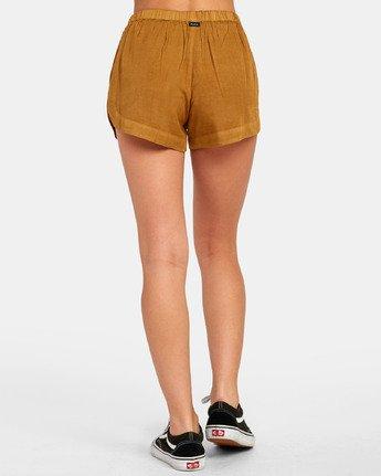 3 New Yume - Shorts mit Gummibund für Damen Braun S3WKRQRVP0 RVCA