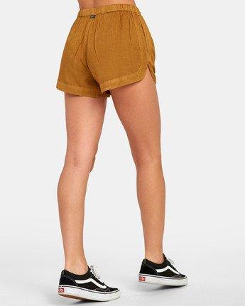 4 New Yume - Shorts mit Gummibund für Damen Braun S3WKRQRVP0 RVCA