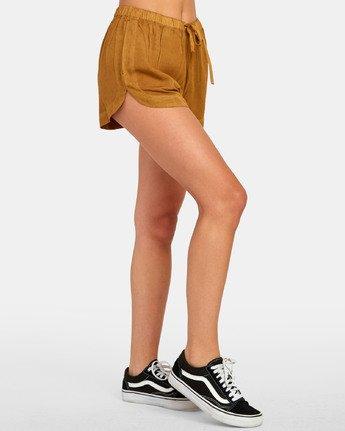 5 New Yume - Shorts mit Gummibund für Damen Braun S3WKRQRVP0 RVCA