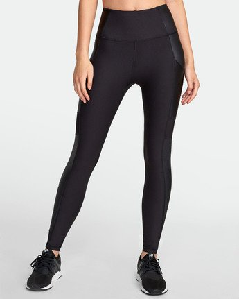1 Matte Shine - Legging de sport pour Femme Noir S4PTWDRVP0 RVCA