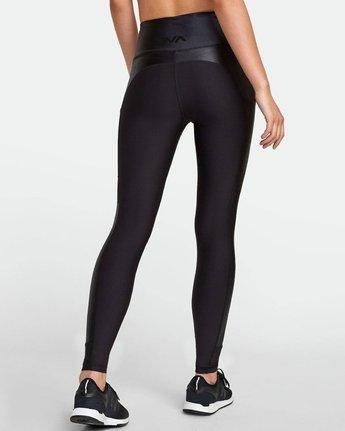 4 Matte Shine - Legging de sport pour Femme Noir S4PTWDRVP0 RVCA