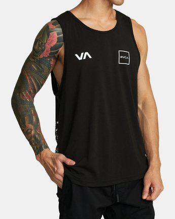 RVCA Lane - Athletic Tank Top for Men  S4SGMARVP0
