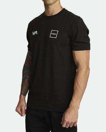 1 RVCA Lane - Athletic T-Shirt for Men Black S4SSMARVP0 RVCA