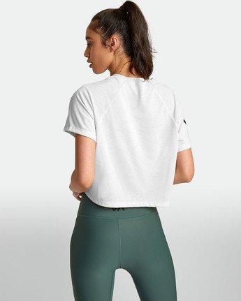4 VA - Athletic T-Shirt for Women White S4TPWARVP0 RVCA