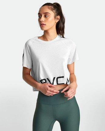 2 VA - Athletic T-Shirt for Women White S4TPWARVP0 RVCA