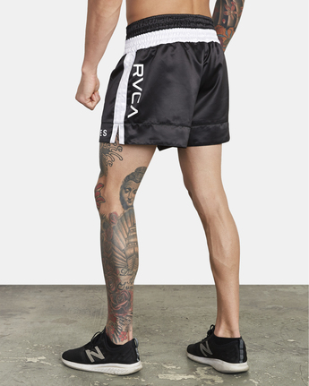 2 RVCA Muay Thai  - Athletic Shorts for Men Black S4WKMCRVP0 RVCA
