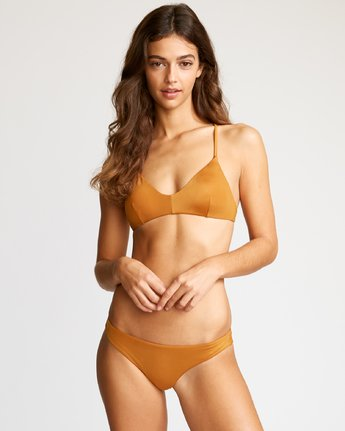 2 Solid Cheeky Bikini Bottoms Brown SJXB01SC RVCA