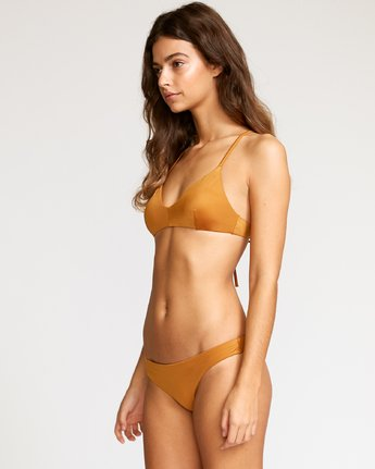 1 Solid Cheeky Bikini Bottoms Brown SJXB01SC RVCA