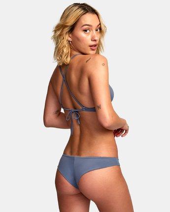 1 Solid Cross Back Bikini Top Blue SJXT01SC RVCA