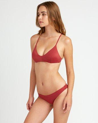 1 Solid Cross Back Bikini Top Red SJXT01SC RVCA