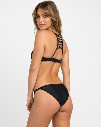 1 Solid Medium Bikini Bottoms Black SKXB01SM RVCA