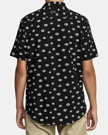 4 Ed Templeton Templeton Eyes - Short Sleeve Shirt for Men Black T1SHRARVS0 RVCA