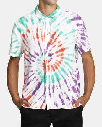 2 Freepoint - Short Sleeve Shirt for Men  T1SHRGRVS0 RVCA