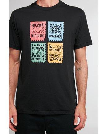 2 Hot Fudge Paper Picado - T-shirt pour Homme Noir T1SSRJRVS0 RVCA