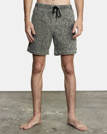 1 Escape Elastic - Swim Shorts for Men Green T1VORERVS0 RVCA