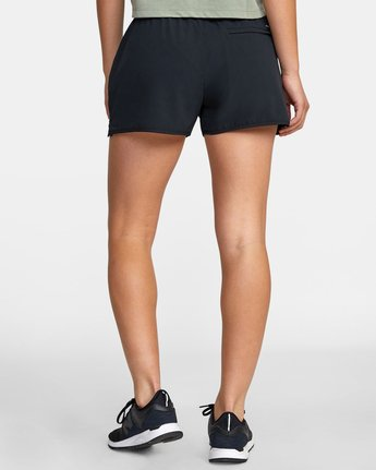 "1 WOMENS YOGGER STRETCH SHORT 11.5"" Black T2023RYS RVCA"