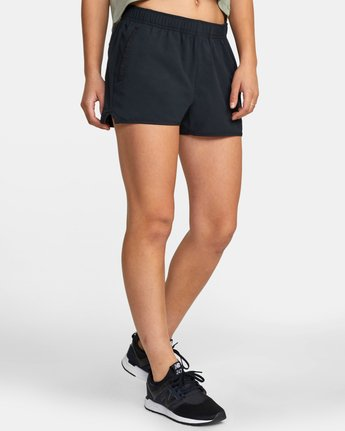 "3 WOMENS YOGGER STRETCH SHORT 11.5"" Black T2023RYS RVCA"