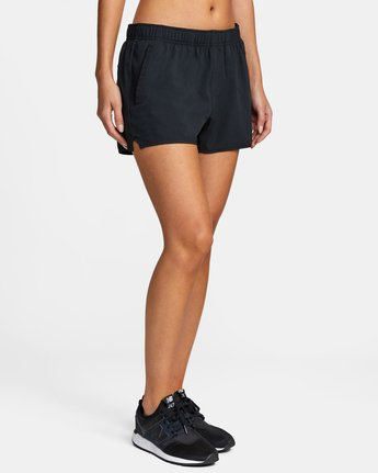14 Womens Yogger Stretch Short Black T202TRYS RVCA