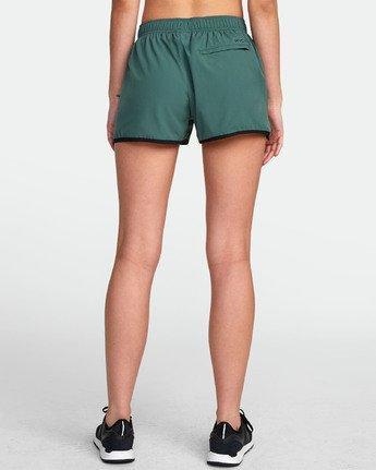 1 Womens Yogger Stretch Short Green T202TRYS RVCA